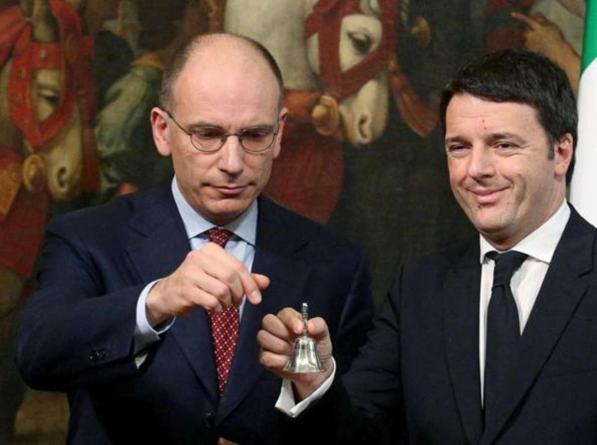 Enrico Letta e Matteo Renzi, due vecchie conoscenze di Palazzo Chigi